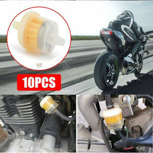 """10xFuel Gas Universal Mortocycle Scooter Hose Small Inline Oil Filter Engine1/4"""""""