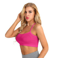 Women's Casual Tank Top Sleeveless Cami Camisole Slim Fit Vest Blouse Crop Tops
