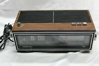Vintage Soundesign Flip Clock Radio 3480 C Clock works Couldn't get radio signal