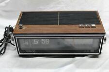 Vintage Soundesign Flip Clock Radio 3480 C Clock works Couldn't get radio signal