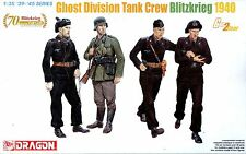 Dragon 1/35 6654 WWII German Ghost Division Tank Crew (Blitzkrieg 1940) (4 Figs)
