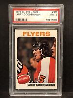 1975-76 OPC O PEE CHEE #373 LARRY GOODENOUGH. Low Pop ONLY 7 graded PSA 9 MINT!!