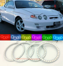 RGB LED Light For Hyundai Tiburon Coupe 2000 2001 RGB Angel Eyes Devil Halo Ring