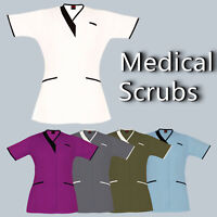 Medical Tunic Scrubs PIPING V-NECK Nurses Dental Tunic Hospital Medical Uniform