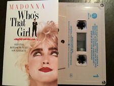 MADONNA - - WHO'S THAT GIRL - - Rare 1987 Australian Cassette Tape