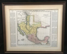 TEXAS AMERICAN UNITED STATES MEXICO INTERNAL PROVINCES HUMBOLDT ANTIQUE MAP 1822