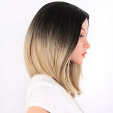 Bob estilo corto lacio pelucas de Cabello Cabeza Completa Para Mujer Peluca Rubio Resistente Al Calor