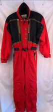 "Vintage Obermeyer Womens Red One Piece Ski Snow Suit Size 10 ""Audacious"" EUC"
