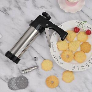 Cookie Biscuit Making Maker Pump Press Machine Gun MoldKitchen Tools Set NEW