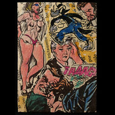 Original Aceo collage Comic ¡AAAG POP ART