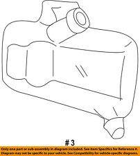 FORD OEM-Radiator Coolant Overflow Tank Recovery Bottle 4C2Z8A080BC