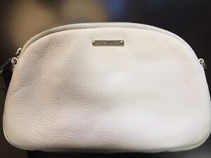 White Leather Pouch / Clutch  by Rebecca Minkoff