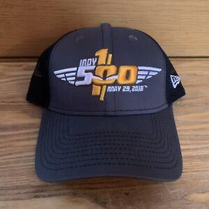 Indy 500 100th Running May 29th 2016 Gray Black Snapback New Era Hat Mesh