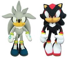 Brand New! GE Sonic The Hedgehog Plush Doll Set - Silver Sonic & Shadow