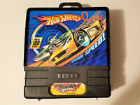 Vintage Hot Wheels Case Rolling Carrying Storage Compact with 19 Cars