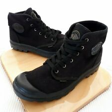 Palladium Mens 9.5 US Black Canvas Walking Tactical Shoes Lace Up Boots Sneakers