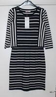 M&S Per Una Size 10 Cotton Jersey Overlay Bodice Shift Dress rrp £55 Bnwt