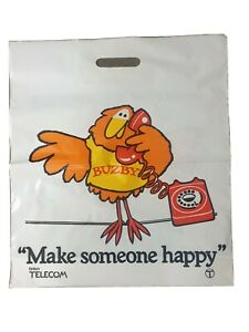 Buzby. Make Someone Happy. Post Office Telecommunications Carrier Bag c1980