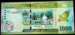 Srilanka / Ceylon 1000 Rupees,2018,P-new,Commemorative,UNC
