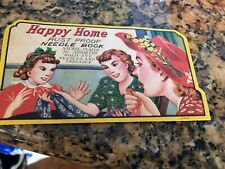 Vintage Happy Home Rust Proof Needle Book with Threader and original sleeve. 70