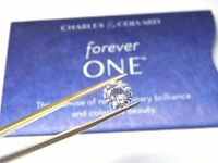 Forever One Moissanite 8mm Round 2 carat Loose Jewel Charles Colvard D E F