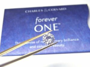 Forever One Moissanite 7.5mm Rnd 1.5 carat Loose Charles Colvard Colorless D E F