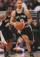 Ime Udoka Spurs NBA signed 8x12 inch photo autograph