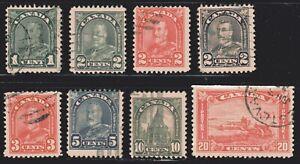"1930-1931 Canada SC# 163-173-King George V-""Arch/Leaf"" Issue-Lot CU273-Used"
