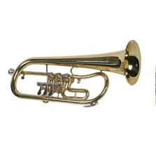 Bb flugelhorn rotary valves, cylinder valves gold