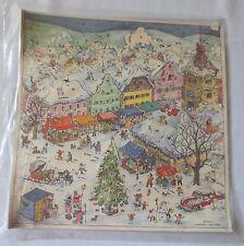 Vtg Advent Calendar Paper Doors Black Mica Rotraut West Germany Unused Iop