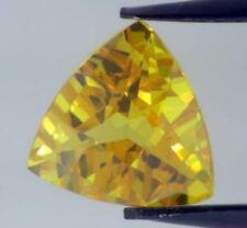 CZ 6A Grade Trillion Shape IJ Little Yellow Color Cubic Zirconia Artificial Loose Gemstones 10pcs 4x4mm
