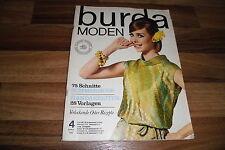 BURDA MODEN # 4 / 1965 - SOMMERMODe - 75 SCHNITTE / SELBSTGENÄHTE HÜTE zum KLEID