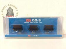 More details for peco gr-330 hudson rugga v-skip wagon set- brown (3) - 009 gauge