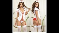 Womens Sexy Naughty Nurse Lingerie Costume Fancy Dress Valentine's Day Cosplay