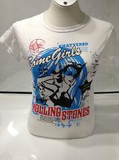 Rolling Stones Ladies Some Girls Blue T-shirt, White Large