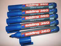 5 Stück Edding 360 board-marker blau 1,5-3mm Boardmarker Stifte f. Whiteboard