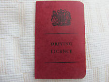 Driving Licence, 1966 to 1969. UK P&P inc