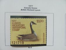 F1558 IL 1977 CANADA GOOSE, RICHARD LYNCH, SERIAL NUMBER 121719 STAMP