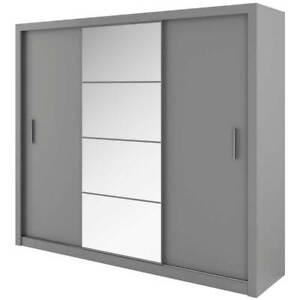 WARDROBE 250cm MIRROR 3 sliding doors 2 hanging rails, bedroom hallway DNID01
