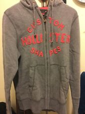 Hollister Hoodie Zip Up Jacket Men's Large L Gray Casual