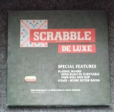 """1983 SPEARS GAMES """" SCRABBLE DE LUXE """" LOVELY GAME FOR ENTHUSIASTIC PLAYERS"""