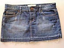 Women's Maurices Short Blue Denim Jean Mini Skirt s 9/10