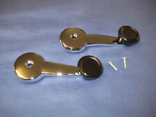 MG PAIR NEW MGB OR MIDGET 1967 ON CHROME WINDOW WINDER HANDLE & SCREW  TWO EB135