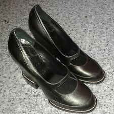 CHLOE MARY JANE HIGH HEEL WEDGE DARK GREEN LEATHER Shoes - UK 5/ EU 37