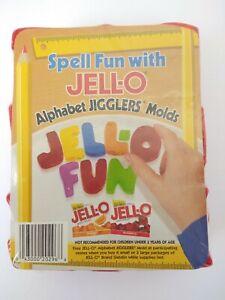 JELL-O Alphabet Jigglers Molds JELLO ABC Shape Cookie Cutters Spell Fun NIP