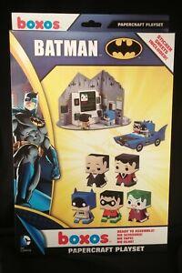 RETIRED Funko BOXOS Batman papercraft playset FREE SHIP Batmobile Joker + ZWAAG
