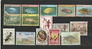 Malawi schönes gest Lot von 15 versch. W. einige Fische
