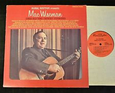 Mac Wiseman Rural Rhythm 258 Singing Country Favorites