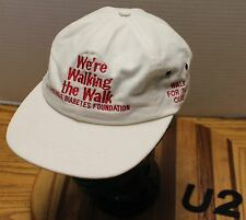 "VINTAGE JUVENILE DIABETES FOUNDATION ""WE'RE WALKING THE WALK"" HAT WHITE GUC  U2"