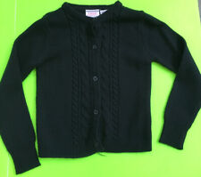 Little Girls' Izod Approved Schoolwear Navy Button-Up Sweater Sz Xs (4/5) Euc!